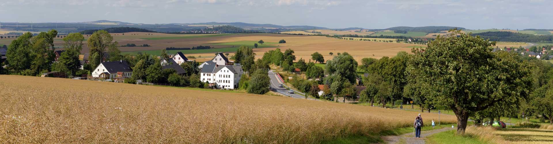 Blick auf Hohburkersdorf