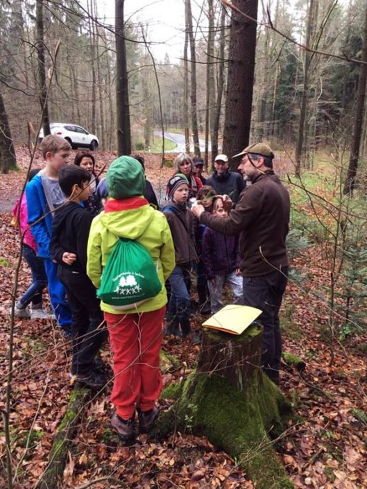 Knut Tröber und Marko Hänsel nahmen uns mit in den Nationalpark und berichteten über den Waldumbau.