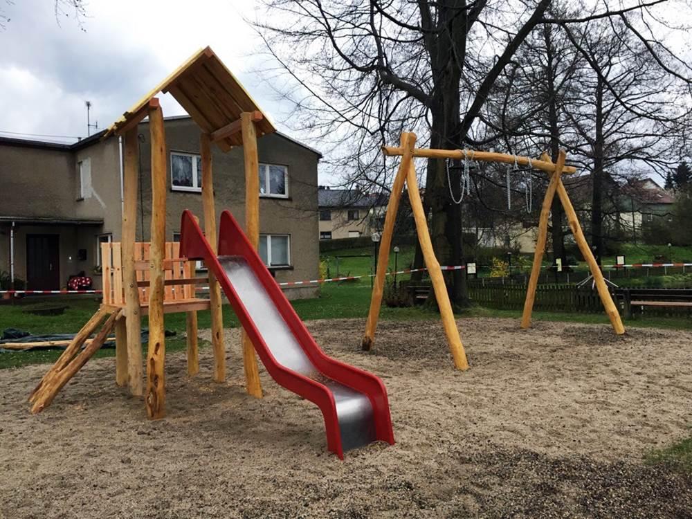 Spielplatzsanierung - Fertigstellung des ersten Bauabschnittes