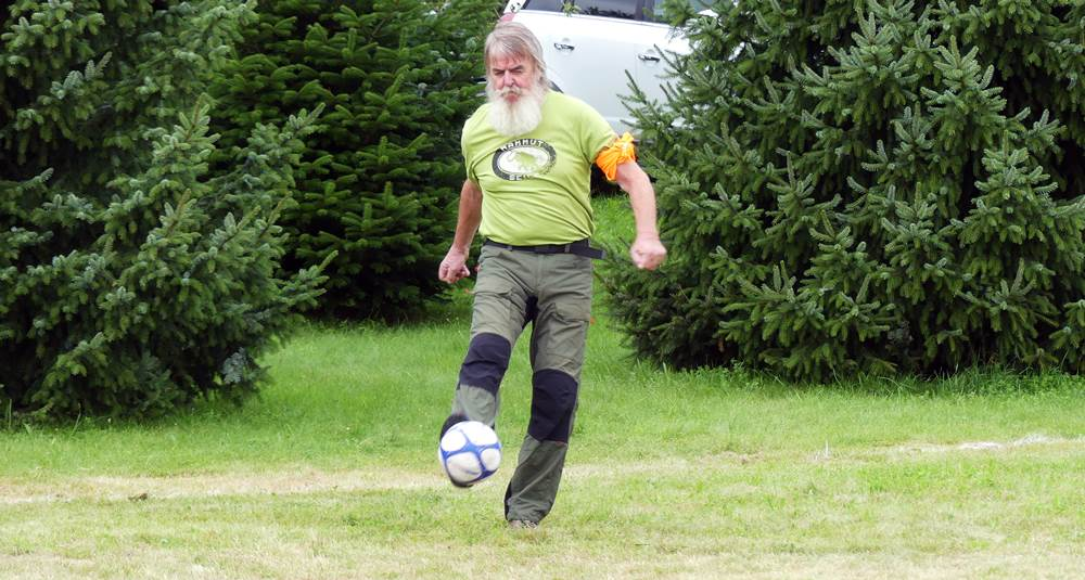 Der 69jährige Waltersdorfer Keeper